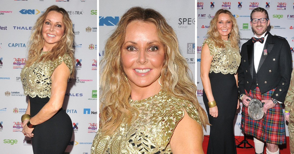 Carol Vorderman is all smiles at Soldiering On Awards after blasting surgery claims