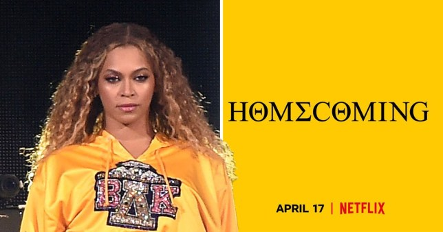Beyonce poster for Netflix Homecoming documentary