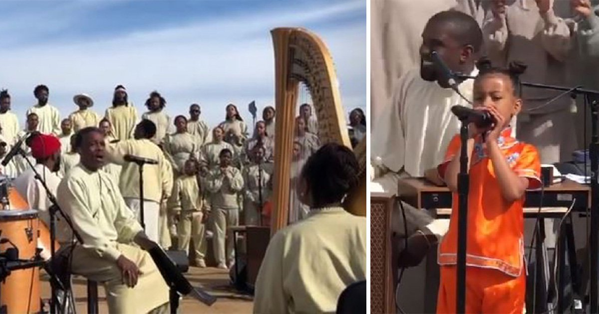 North West singing Stevie Wonder at dad Kanye's Sunday church service is a mood