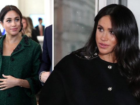 Trolls claim Meghan's pregnancy is fake as she 'holds prosthetic bump in place'
