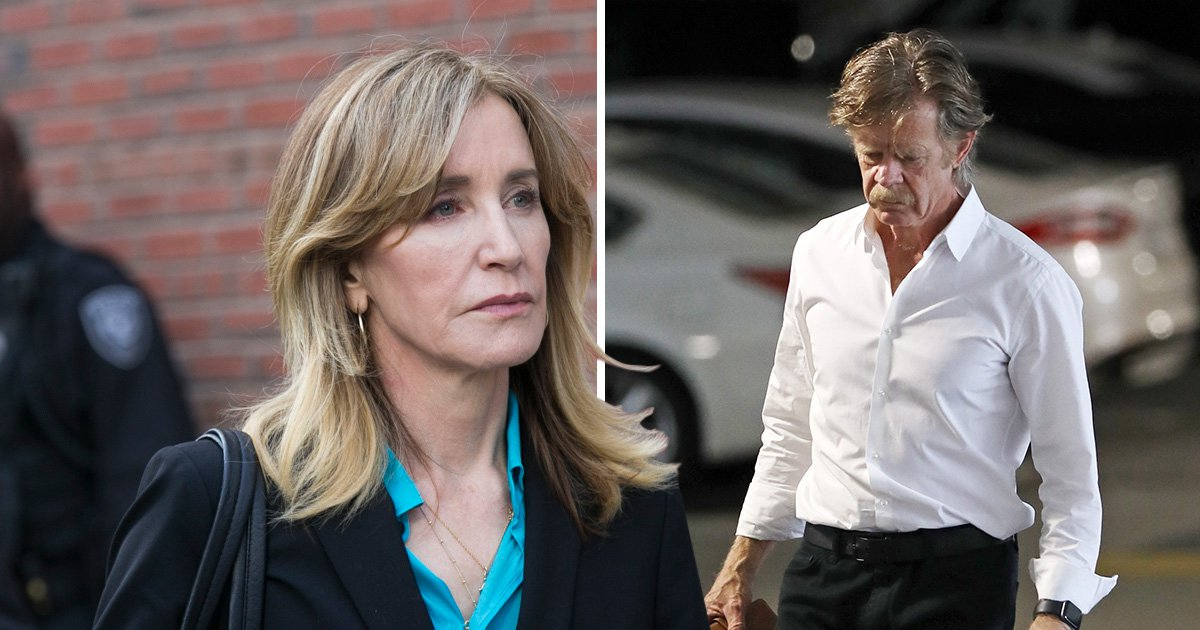 Felicity Huffman's husband William H Macy steps out in LA after Desperate Housewives star pleads guilty