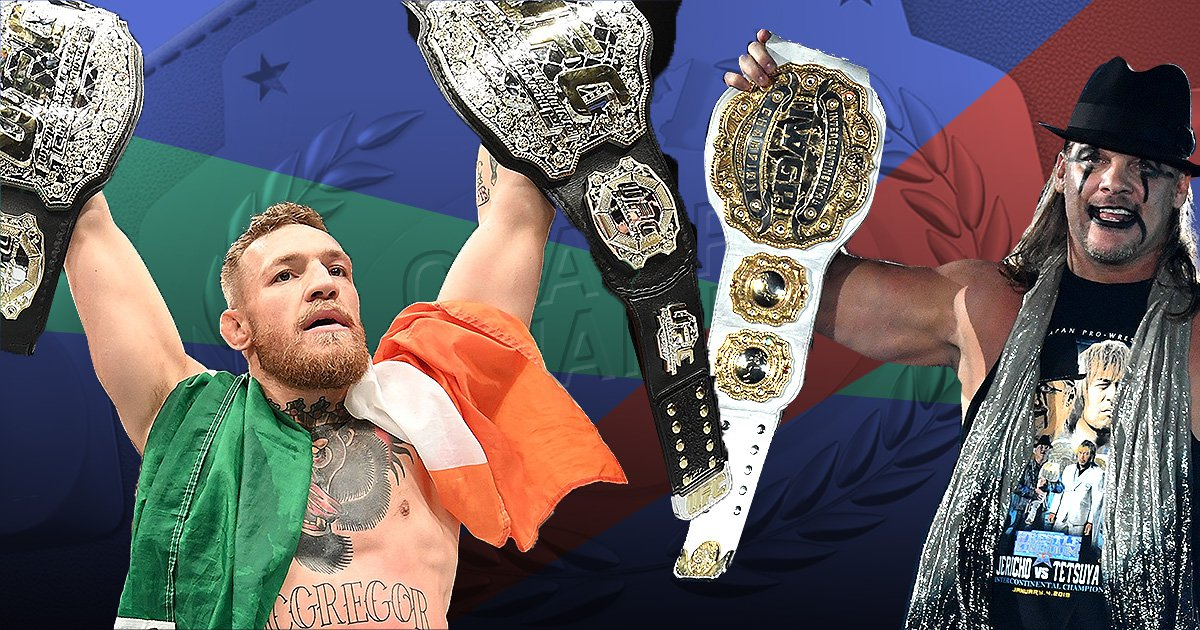 UFC star Conor McGregor and WWE legend Chris Jericho argue over 'Champ Champ' status