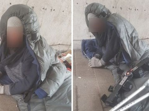 Homeless man spent night in the cold after security 'locked away' his sleeping bag
