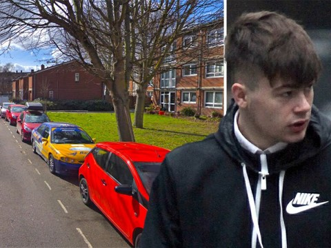 Witness stabbed in the back 'after filming knife attack on dad and son'