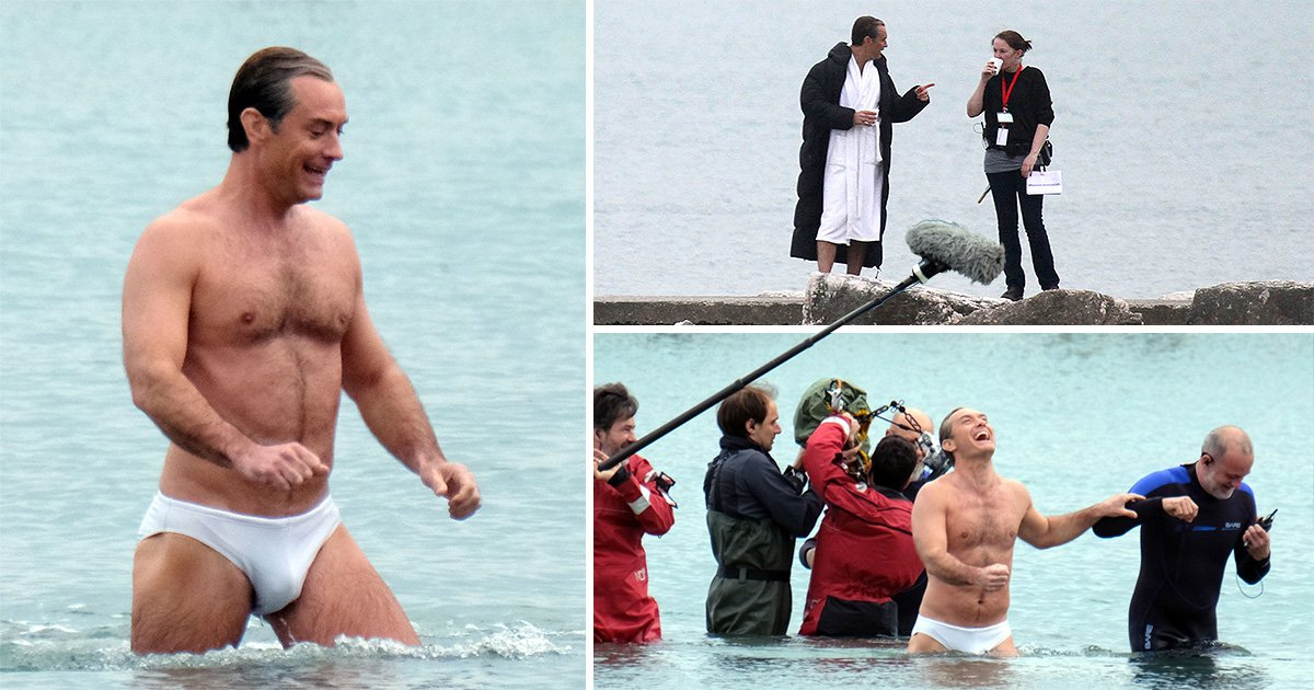 We're not sure if Jude Law is filming The New Pope or a Baywatch sequel