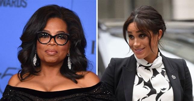 Oprah Winfrey and Meghan Markle
