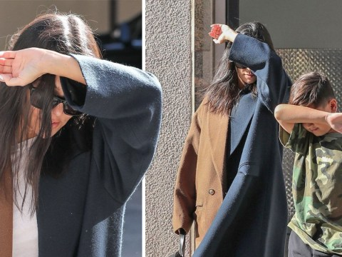 Kourtney Kardashian and son Mason are really acing this whole 'hiding from the paps' thing