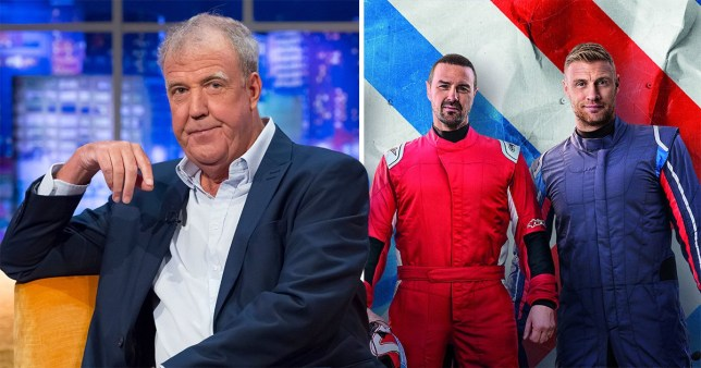 Jeremy Clarkson and Top Gear's Freddie Flintoff and Paddy McGuinness
