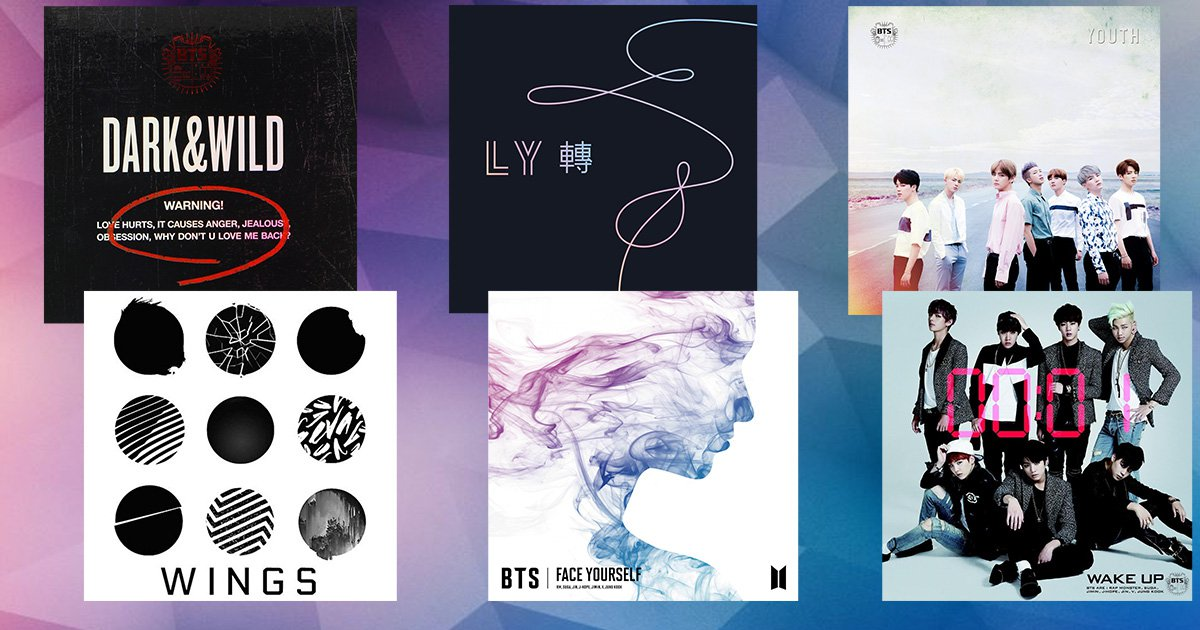 Every BTS album so far