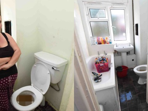 Pregnant mum's bathroom overflows with poo every time her neighbour uses loo