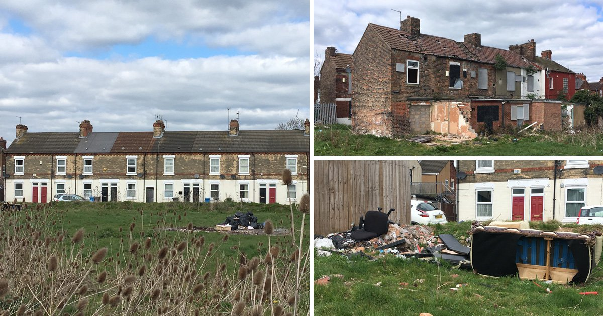 Last families living on 'abandoned' street full of rubbish and empty homes