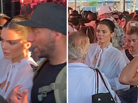 Kendall Jenner and Hailey Baldwin look unimpressed after being turned away from Coachella VIP exit