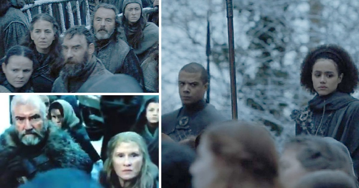 The Northerners' reactions to seeing black people for the first time has Game of Thrones fans rolling (Picture: HBO)