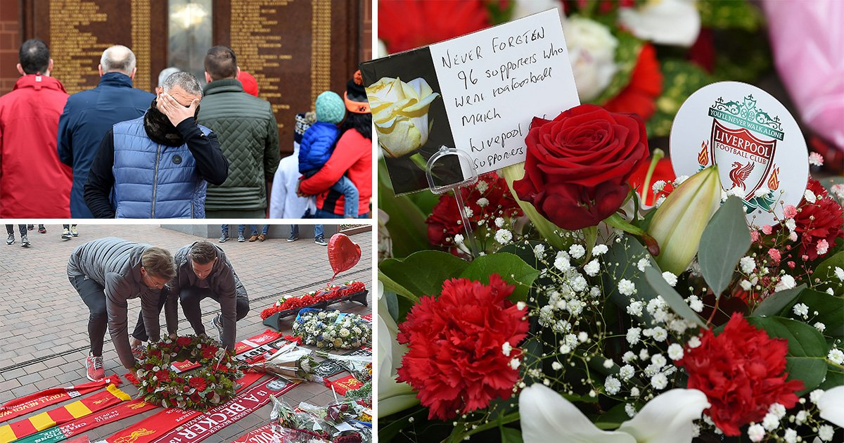 Hillsborough disaster marked by one minute's silence as bell tolls 96 times