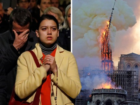 Notre-Dame cathedral saved from 'total destruction' following huge fire