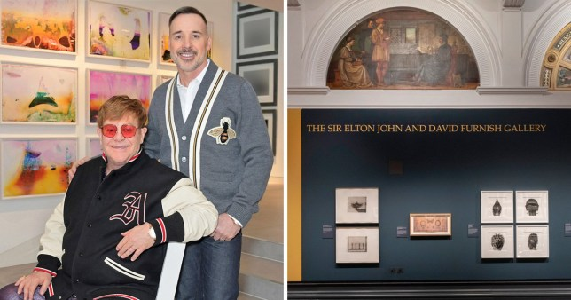 Elton John, David Furnish V&A Victoria and Albert.