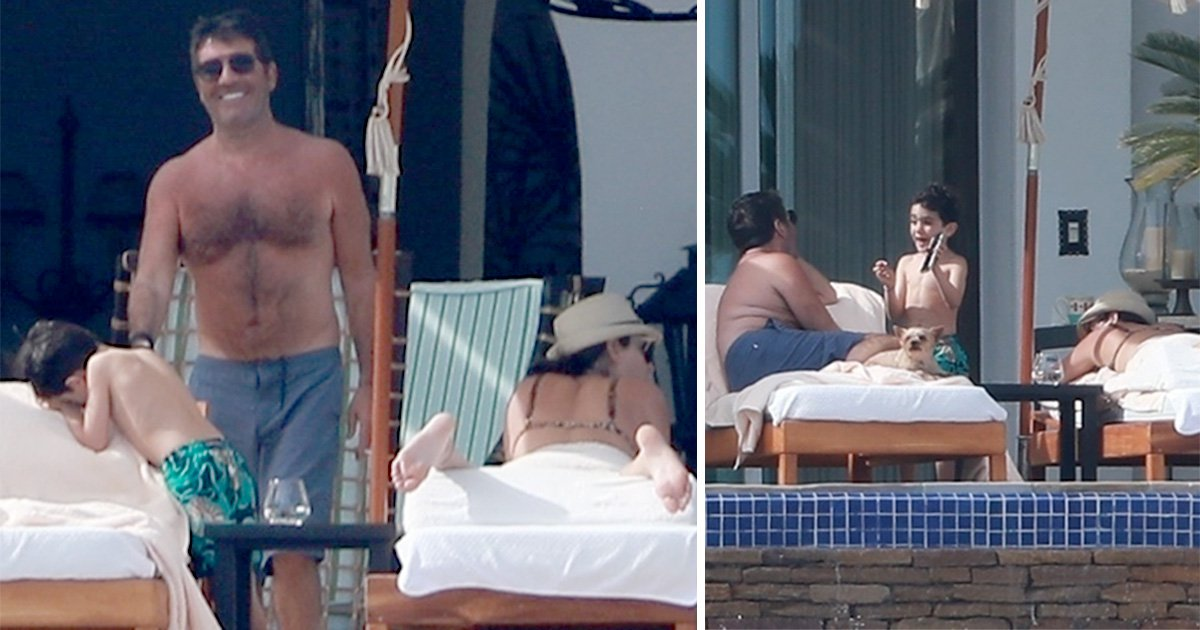 Simon Cowell lives the dream in Mexico as he lounges around with son Eric and girlfriend Lauren Silverman