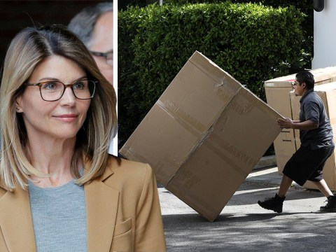 Lori Loughlin receives boxes of new furniture following not guilty plea as she faces prison in college bribery case