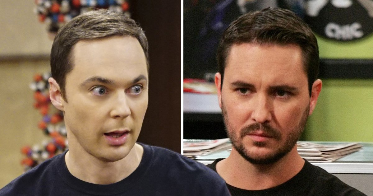 Sheldon Cooper and Wil Wheaton in The Big Bang Theory