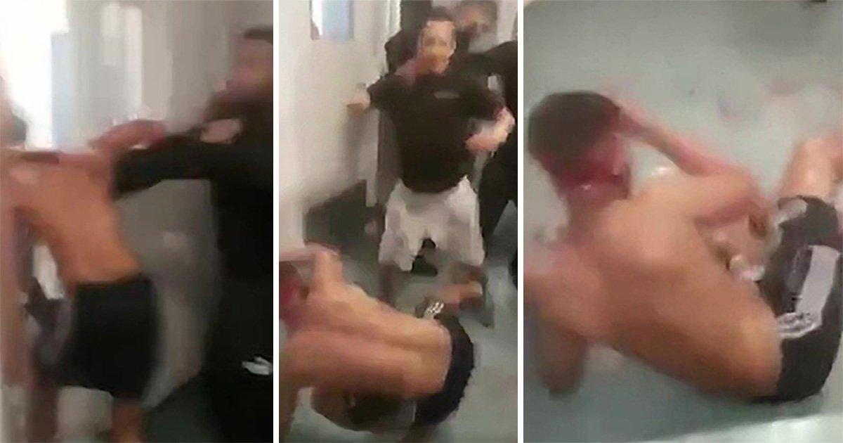 Inmate brutally beaten by prisoners in shocking video filmed inside jail