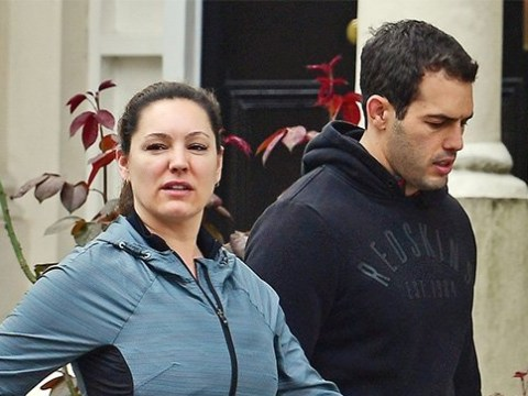 Kelly Brook heads to the gym with boyfriend Jeremy Parisi make-up free after radio show