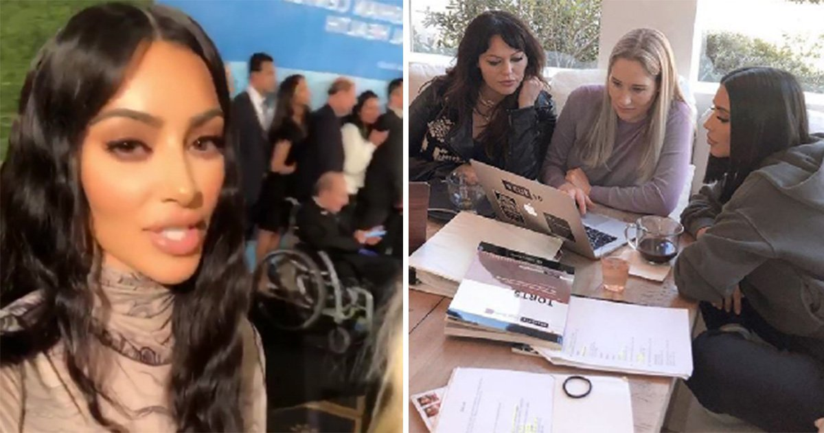 Kim Kardashian takes a break from revision to honour her late dad after taking a law exam