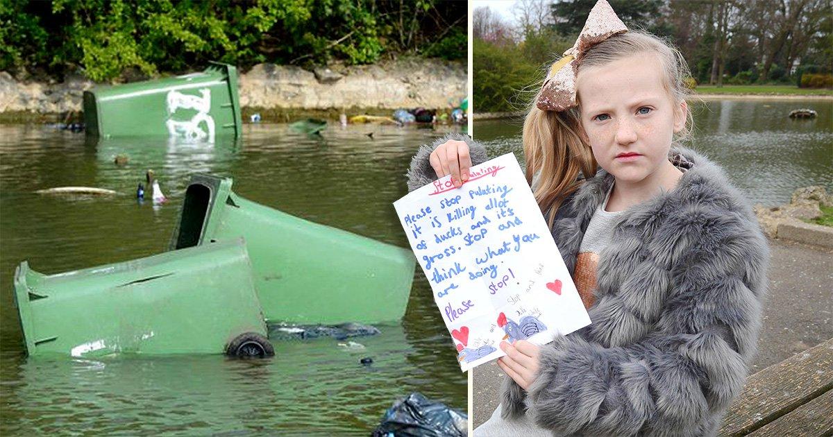 'Heartbroken' little girl begs wheelie bin yobs to 'stop killing ducks'