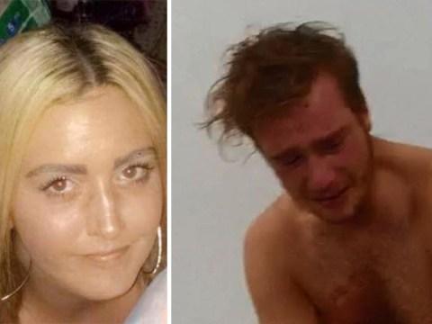 Murderer's crocodile tears as he's arrested for strangling girlfriend to death