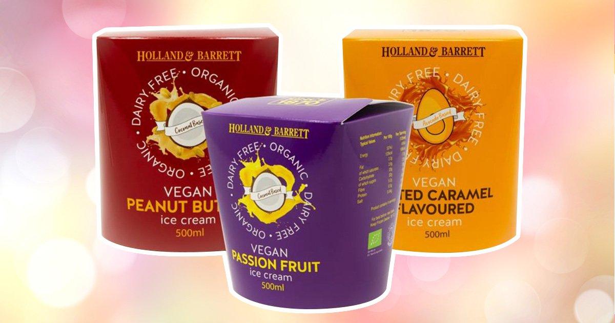 Holland & Barrett launches three new vegan ice creams