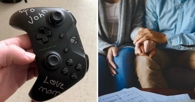Mum wrote four simple words that made the controller all the more special. She wrote: 'To John, Love mum'.