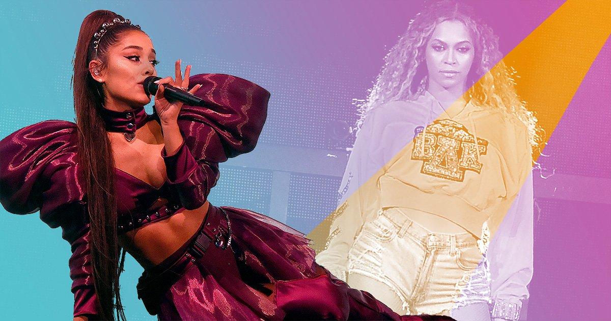 Ariana Grande and Beyonce both performed at Coachella.