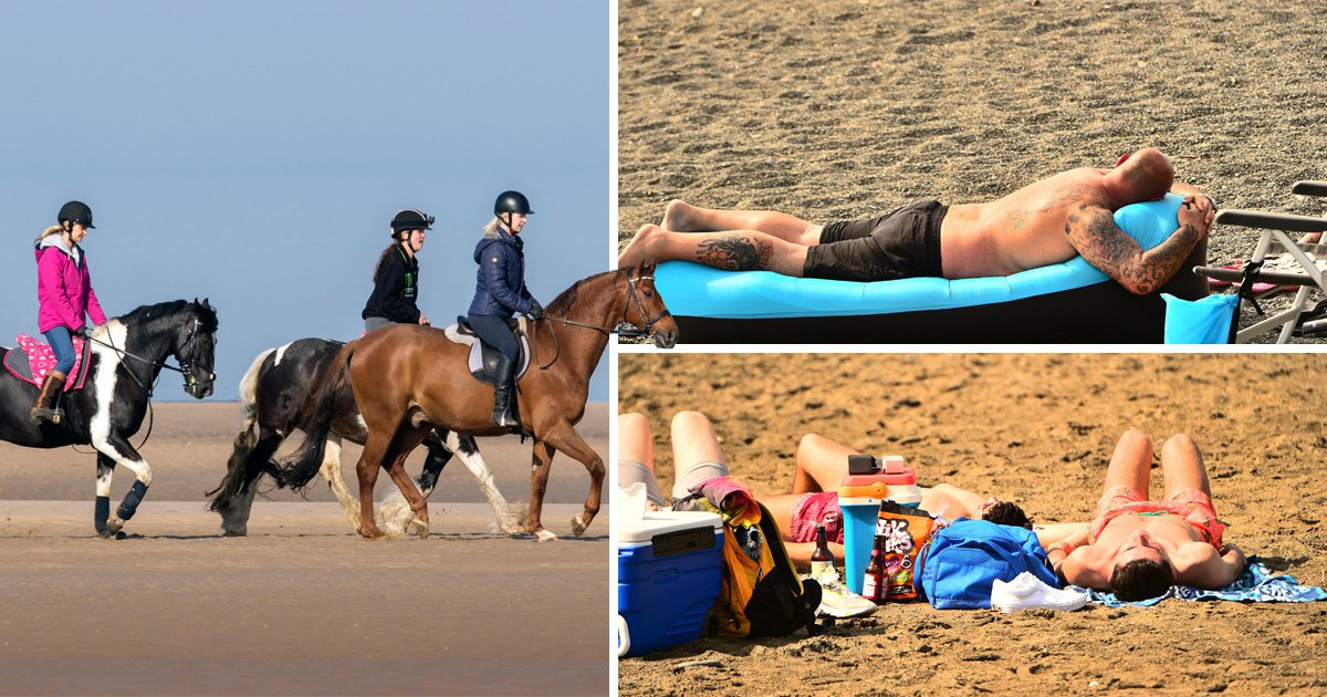 Brits will be hitting the beach and basking in scorching Easter weather