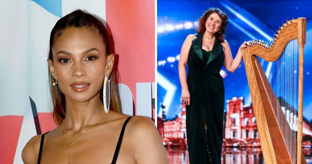 Alesha Dixon gets jelly as Britain's Got Talent act gets off with a harp - 12 mins EMBARGOED 12.00