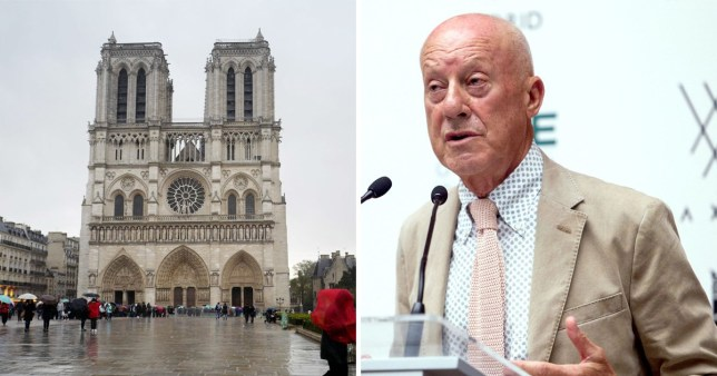 Norman Foster has suggested his ideas for the rebuild of Notre Dame (Pictures: Getty/REX)