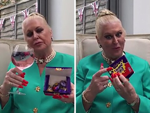 Kim Woodburn reveals the best way to eat a creme egg involves gin