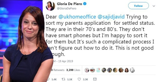 Labour MP Gloria De Piero was heavily mocked for her comments