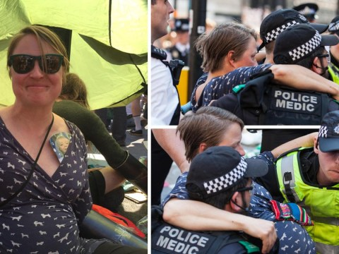 Pregnant climate change protester carried away by police at Oxford Circus