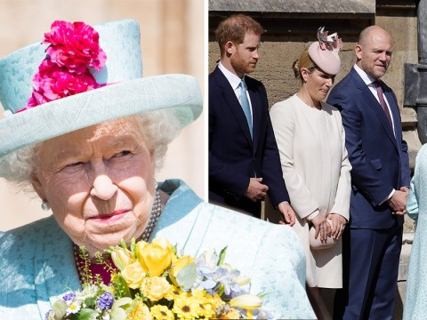 Queen serenaded with Happy Birthday as Harry, Kate and William join her for Easter