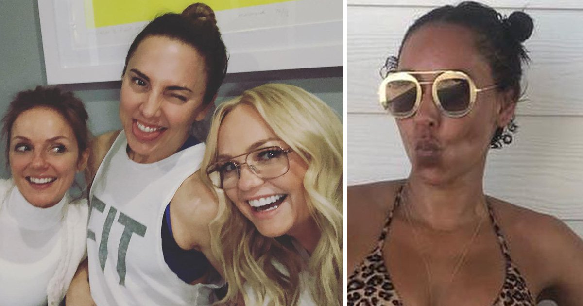 Spice girls Emma Bunton, Geri Horner and Mel C spend easter without Mel b