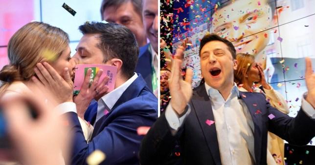 Volodymyr Zelensky has 'won the election'