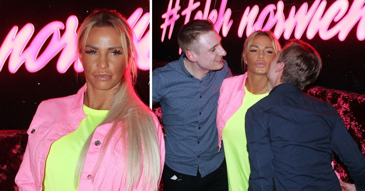 Katie Price shines bright as a neon diamond as she publicly 'snobs Kris Boyson' at cosy night club appearance