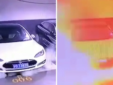 Tesla car appears to 'self-combust' in dramatic and unexplained explosion