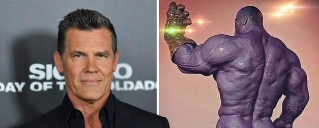 Josh Brolin's UNSETTLING Thanos pic