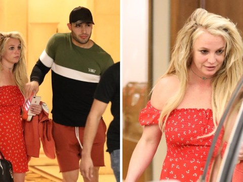 Britney Spears celebrates Easter with boyfriend as she's seen for first time since 'checking into facility to focus on mental health'