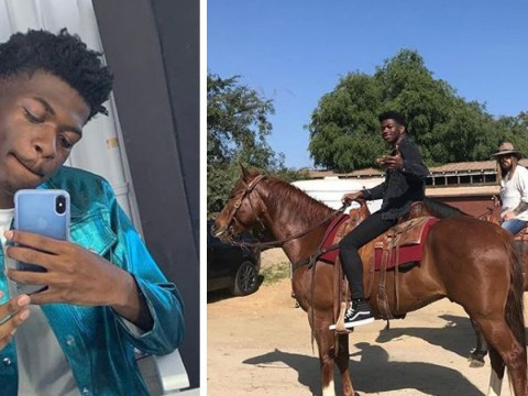 Lil Nas X finally rides a horse down the Old Town Road with Billy Ray Cyrus