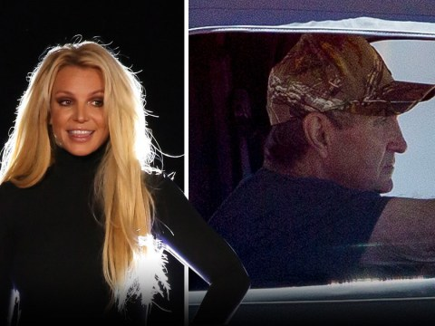 Britney Spears' dad Jamie spotted for first time since life-threatening illness as protesters call for daughter's release