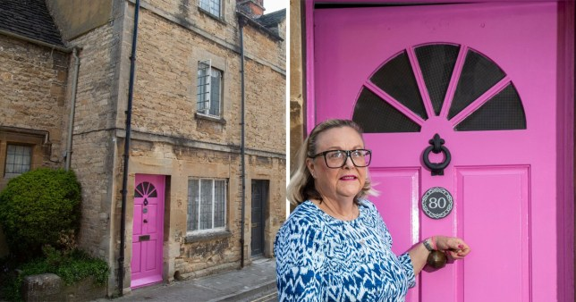 Cotswold District Council wrote to Janine Renshaw-Beauchamp asking her to change the colour of her door (Picture: SWNS)