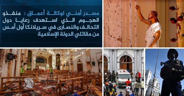 Isis have claimed responsibility for the suicide bombings in Sri Lanka (Pictures: AP/Getty)