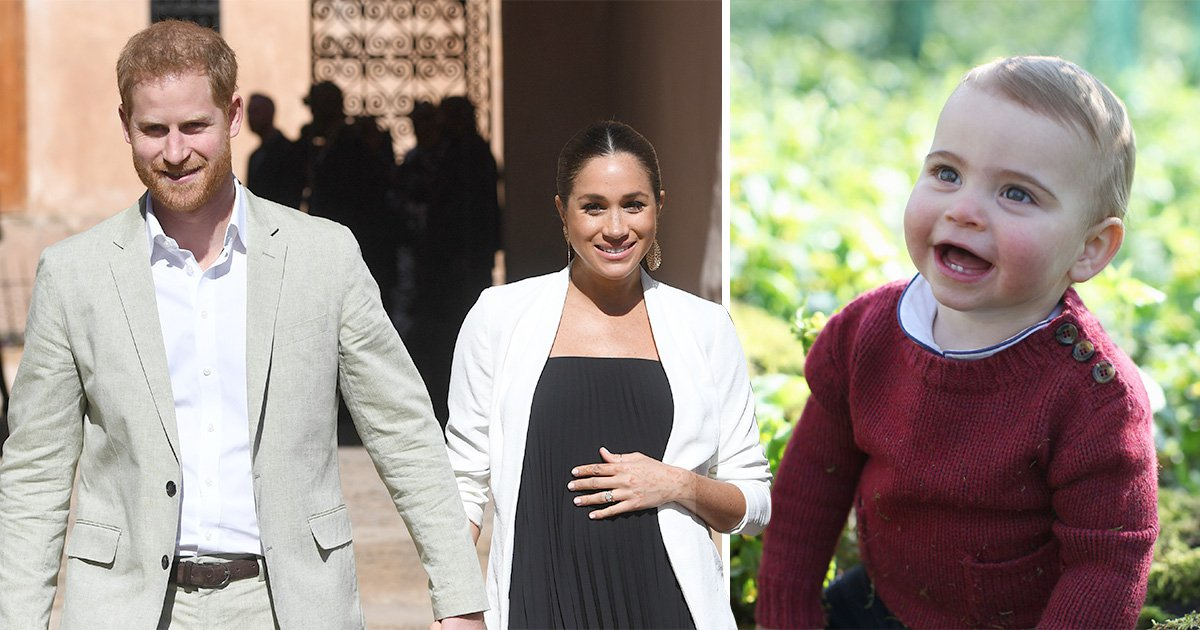 Harry and Meghan, who are expecting their first baby any day, wish Prince Louis happy birthday (Picture: AP/PA)