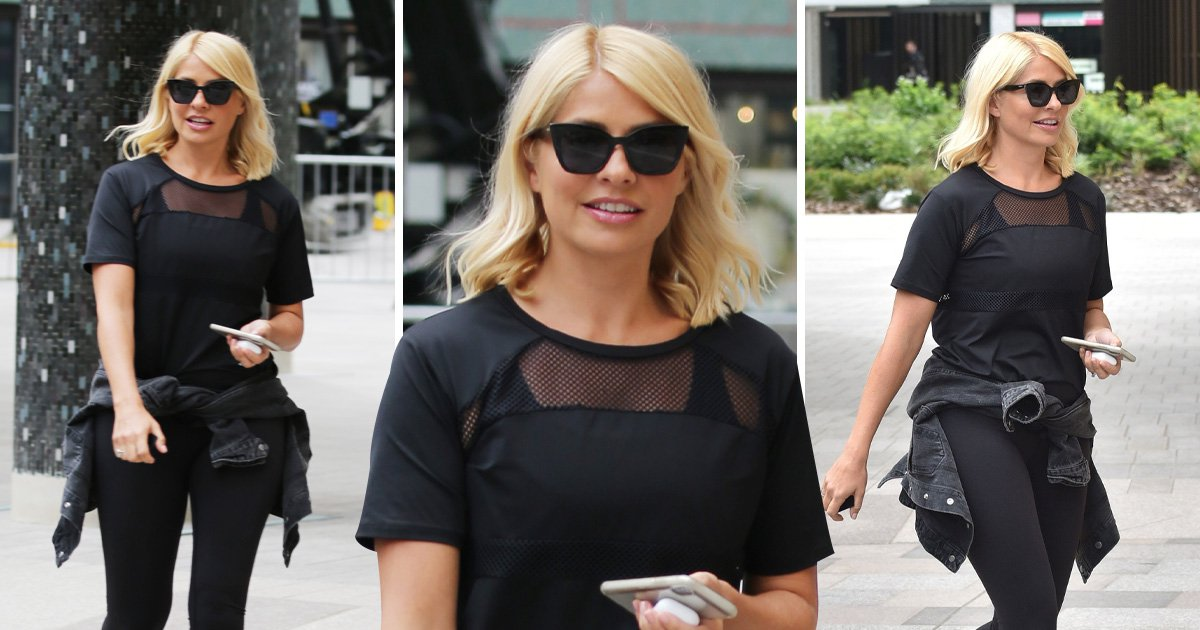 Holly Willoughby looks fierce in gym kit ahead of This Morning return after keeping coy on weight loss secrets